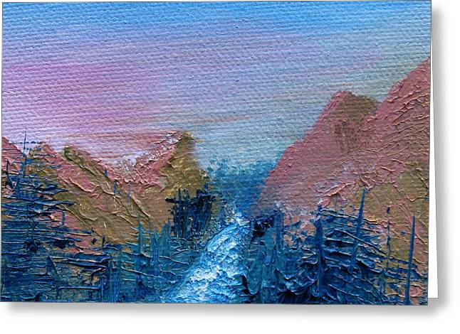 A Mighty River Canyon Greeting Card by Jera Sky