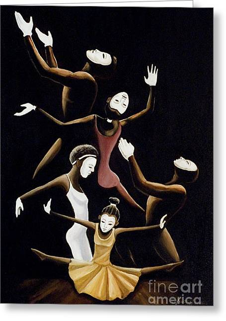 A Mime To Praise Greeting Card by Frank Sowells Jr