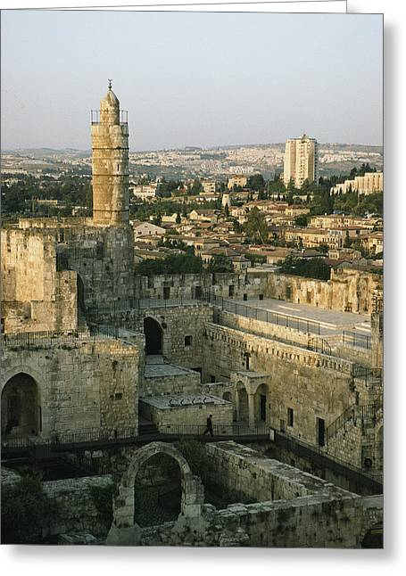 A Minaret In The Muslim Quarter Greeting Card by Joel Sartore