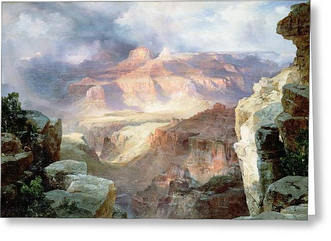 Ravine Greeting Cards - A Miracle of Nature Greeting Card by Thomas Moran