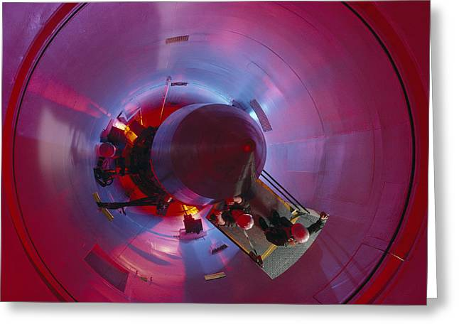 North Fork Greeting Cards - A Missile Procedure Trainer Simulates Greeting Card by Annie Griffiths