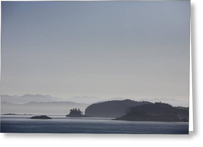 Queen Charlotte Strait Greeting Cards - A Misty Afternoon On Haida Gwaii Greeting Card by Taylor S. Kennedy