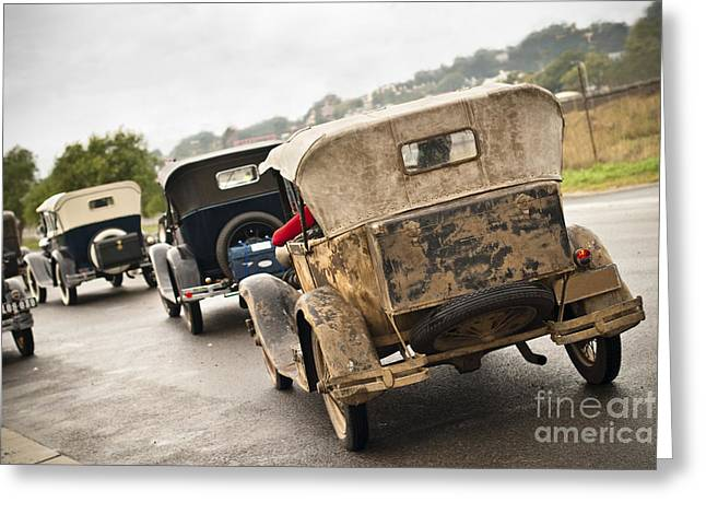 Rally Greeting Cards - A model procession Greeting Card by David Lade