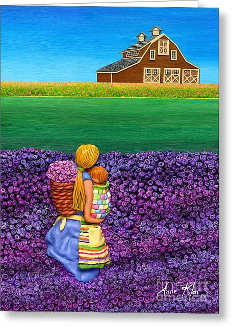 Field Sculptures Greeting Cards - A MOMENT - Crop Of Original - To See Complete Artwork Click View All Greeting Card by Anne Klar