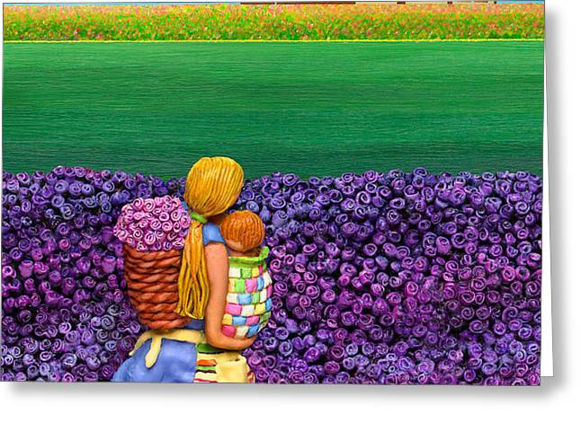 A MOMENT - Crop Of Original - To See Complete Artwork Click View All Greeting Card by Anne Klar