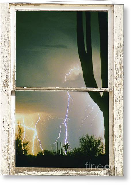 A Moment In Time Rustic Barn Picture Window View Greeting Card by James BO  Insogna