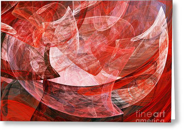 Algorithmic Abstract Greeting Cards - A Mothers Womb . A120422.446 Greeting Card by Wingsdomain Art and Photography