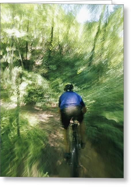 A Mountain Biker In Tsali Recreation Greeting Card by Skip Brown