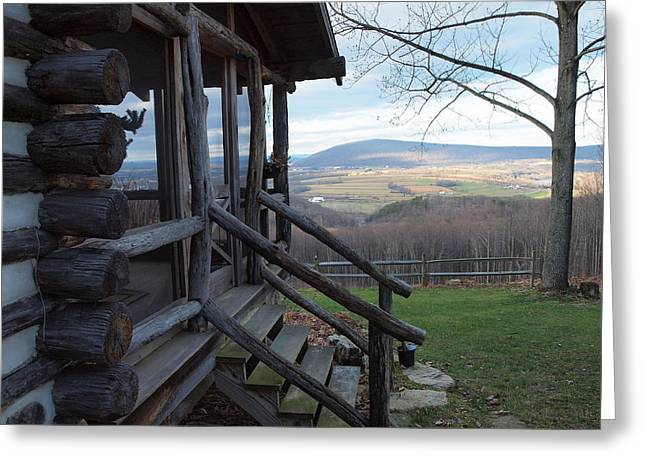 Barn In Woods Photographs Greeting Cards - A Mountain View Greeting Card by Robert Margetts