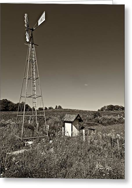 Grey Roots Museum Greeting Cards - A Moving Memory monochrome Greeting Card by Steve Harrington