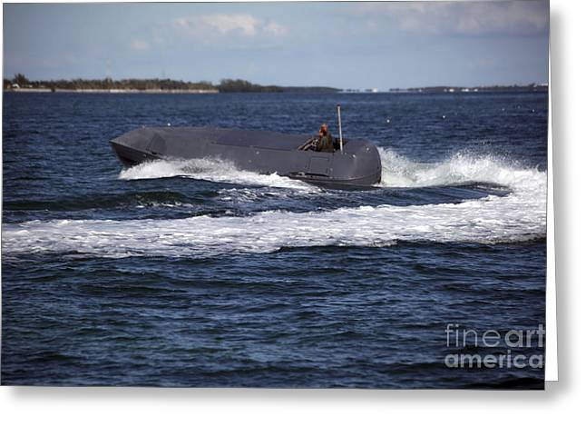 Inflatable Boats Greeting Cards - A Multi-role Combat Craft Makees A High Greeting Card by Michael Wood