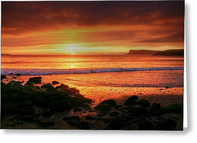 Sunset Prints Of Ireland Greeting Cards - A new day Greeting Card by David McFarland