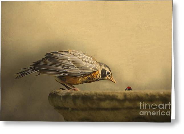 Eating Greeting Cards - A New Day Greeting Card by Jan Piller