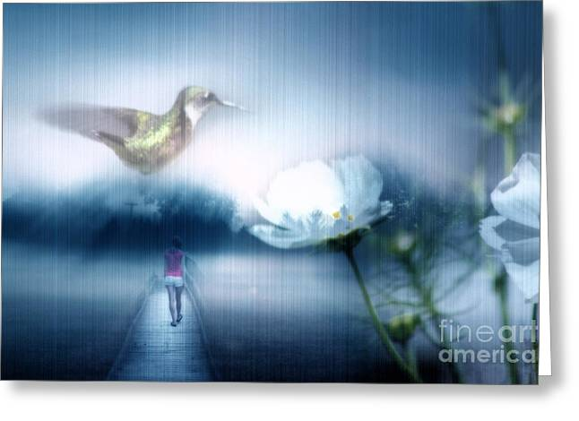 Renewing Digital Art Greeting Cards - A New Dream Takes Hold Greeting Card by Cathy  Beharriell