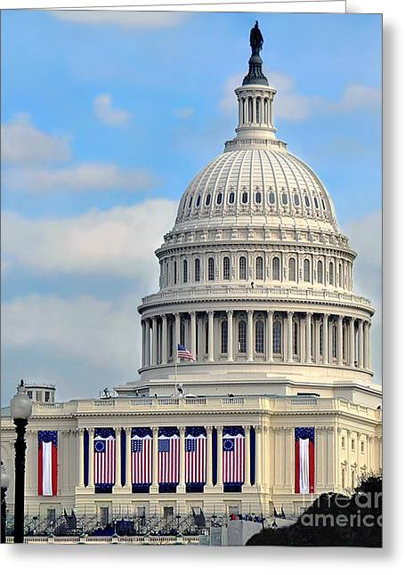 Inauguration Greeting Cards - A New Era Greeting Card by Jane Brack