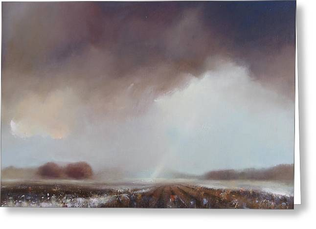 Haze Paintings Greeting Cards - A new light II Greeting Card by Robert Selkirk