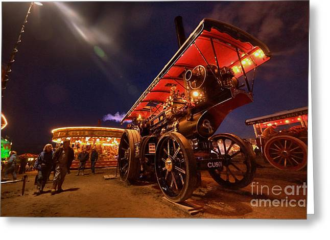 Dynamos Greeting Cards - A night of steam  Greeting Card by Rob Hawkins
