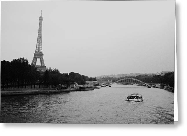 Film Noir Greeting Cards - A Noir Look at the Eiffel Tower Greeting Card by Chris Ann Wiggins