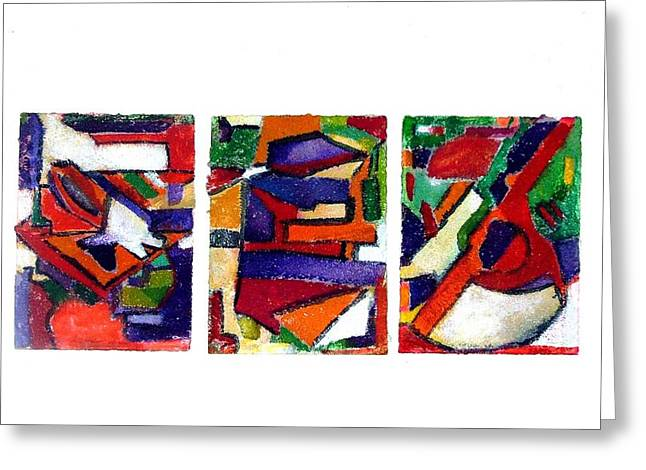 Post Modern Greeting Cards - A one and a two and a  three Greeting Card by Mindy Newman