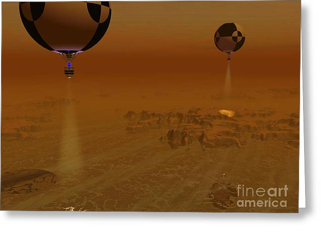 Space Probes Greeting Cards - A Pair Of Balloon-borne Probes Greeting Card by Walter Myers