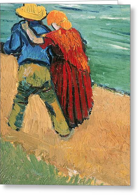 Vangogh Greeting Cards - A Pair of Lovers Greeting Card by Vincent Van Gogh
