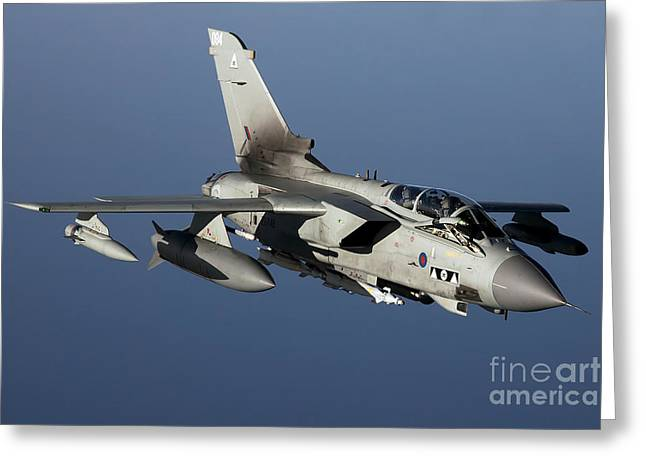 Civil Aviation Greeting Cards - A Panavia Tornado Gr4 Of The Royal Air Greeting Card by Gert Kromhout