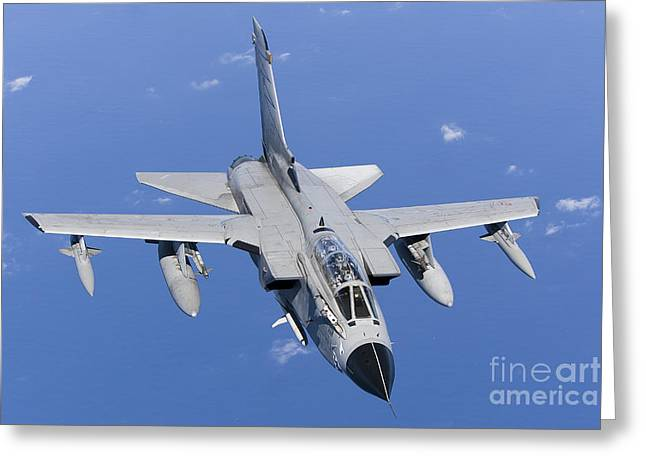 The Higher Planes Greeting Cards - A Panavia Tornado Ids Of The Italian Greeting Card by Gert Kromhout
