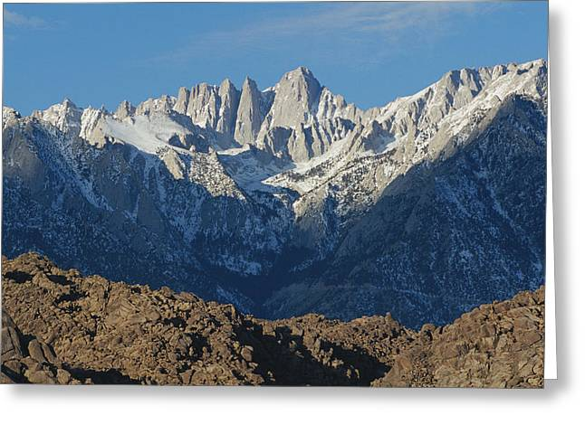 Mount Whitney Greeting Cards - A Panoramic View Of Mount Whitney Greeting Card by Marc Moritsch