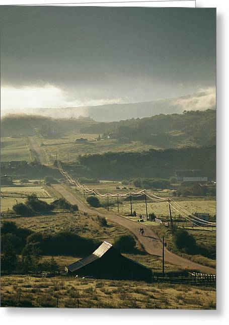 Vehicle Of Life Greeting Cards - A Pastoral Landscape With Brooding Greeting Card by Michael S. Lewis