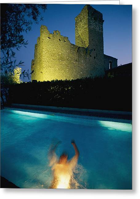 Umbria Greeting Cards - A Person Is Swimming Underwater Greeting Card by Tino Soriano