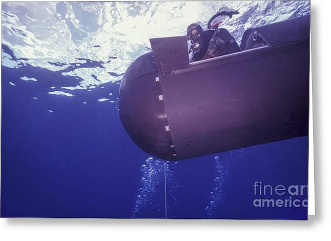 Special Delivery Greeting Cards - A Pilot Guides A Seal Delivery Vehicle Greeting Card by Michael Wood