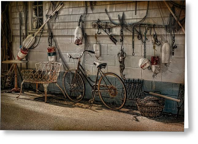 Spokes Greeting Cards - A Place For Everything Greeting Card by Robin-lee Vieira