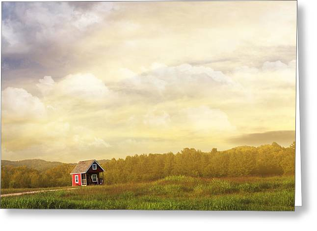 Dreamy Landscape Greeting Cards - A Place to Call Home Greeting Card by Amy Tyler