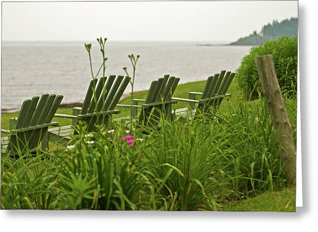 Mid-coast Maine Greeting Cards - A Place to Relax Greeting Card by Paul Mangold