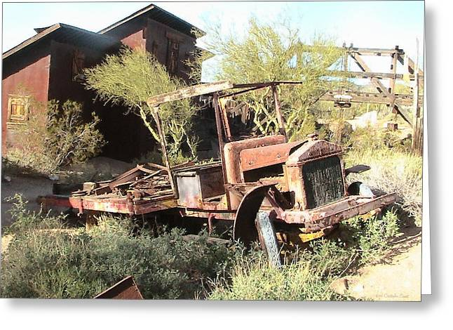 Rustic Truck Greeting Cards - A Place to Rest Greeting Card by Cristophers Dream Artistry