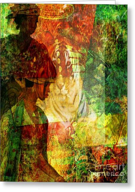 Sharing Mixed Media Greeting Cards - A Poly Game y Tale Greeting Card by Fania Simon