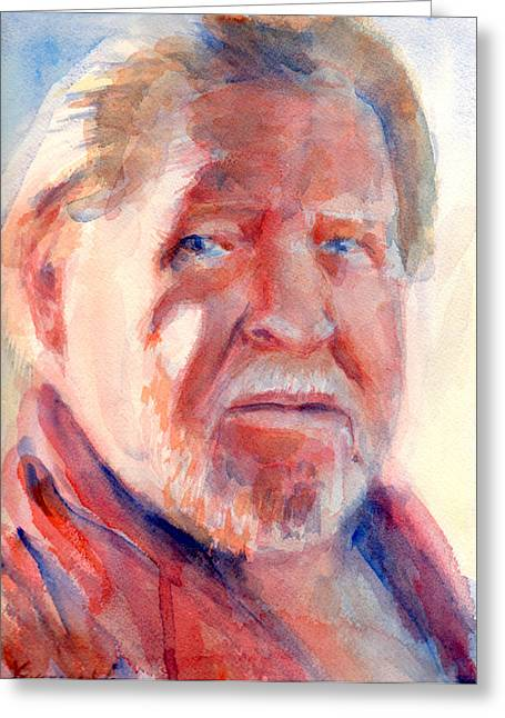 Loose Hair Greeting Cards - A Portrait A Day 50 - Brian Greeting Card by Yevgenia Watts
