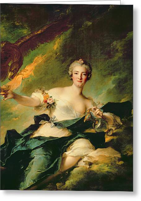 Marc Greeting Cards - A Portrait of Anne Josephe Bonnnier de la Mossau  Greeting Card by Jean Marc Nattier