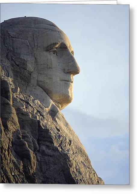 Borglum Greeting Cards - A Profile View Of George Washingtons Greeting Card by Joel Sartore