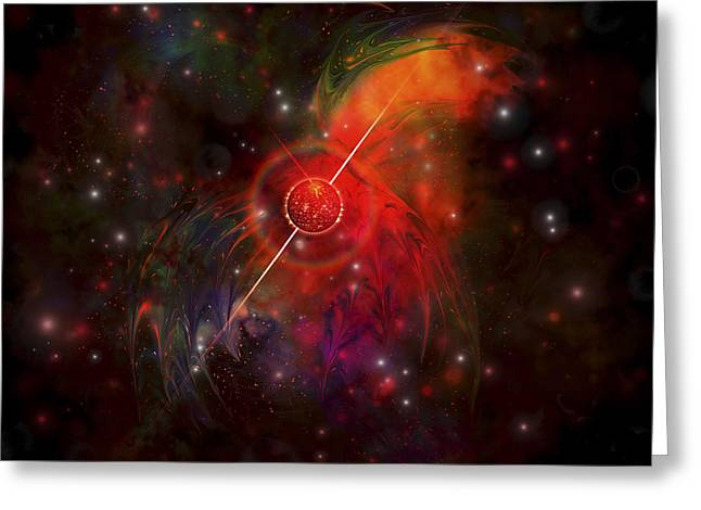 Neutron Greeting Cards - A Pulsar Star Radiating Strong Beams Greeting Card by Corey Ford