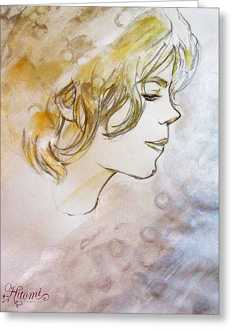 Michael Jackson Drawing Greeting Cards - A Pure Being Greeting Card by Hitomi Osanai
