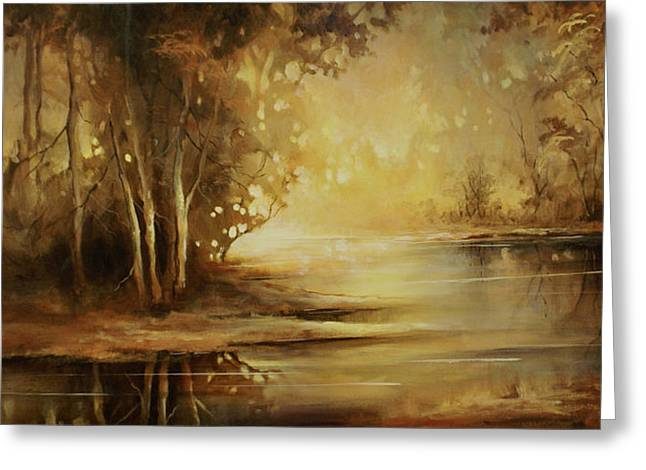 Creek Greeting Cards - A Quiet Moment Greeting Card by Michael Lang