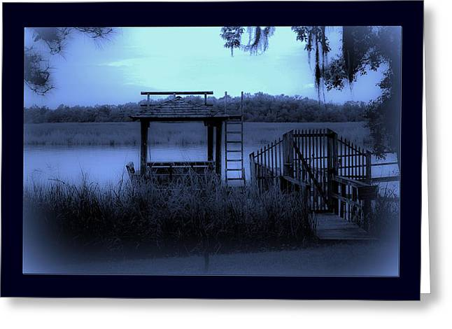 No Trespassing Greeting Cards - A Quiet Place By The Marsh Greeting Card by DigiArt Diaries by Vicky B Fuller