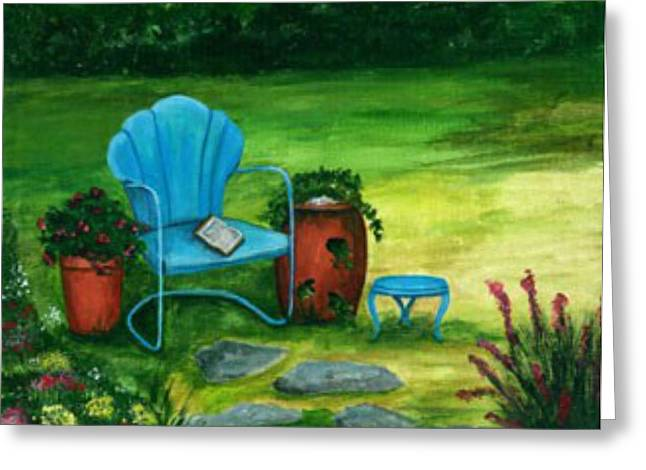 A Quiet Place Greeting Card by Sandra Jones