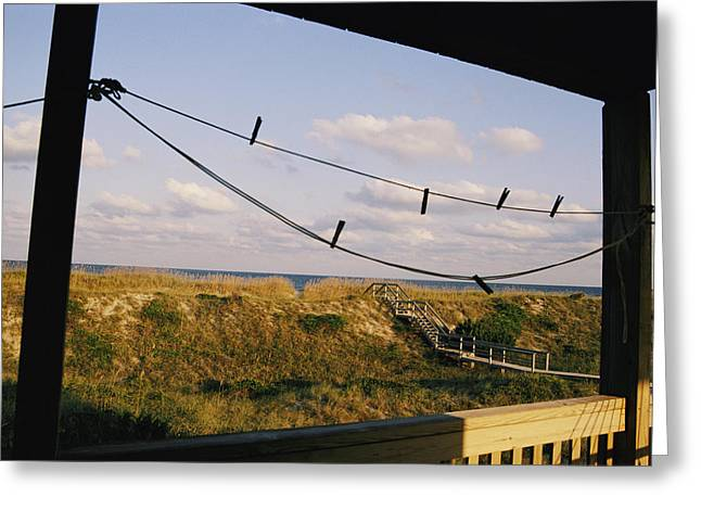 Cape Hatteras National Seashore Greeting Cards - A Quiet Stretch Of Dune And Ocean Greeting Card by Stephen St. John