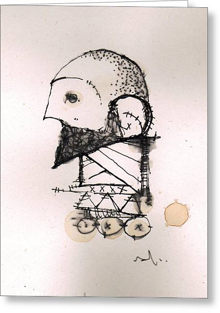 Pen Mixed Media Greeting Cards - A Race Called Human 7 Greeting Card by Mark M  Mellon