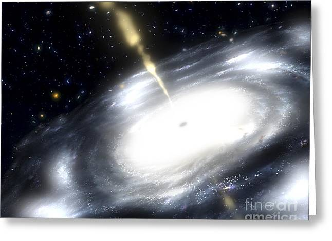 Disk Greeting Cards - A Rare Galaxy That Is Extremely Dusty Greeting Card by Stocktrek Images