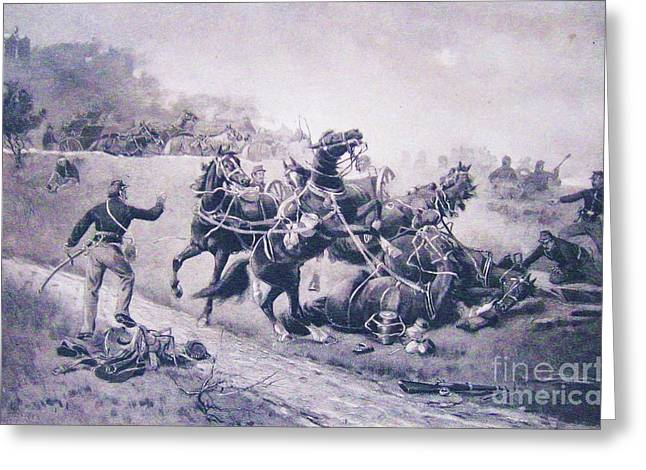 Appleton Art Greeting Cards - A recollection of Gettysburg Greeting Card by W H  Shelton