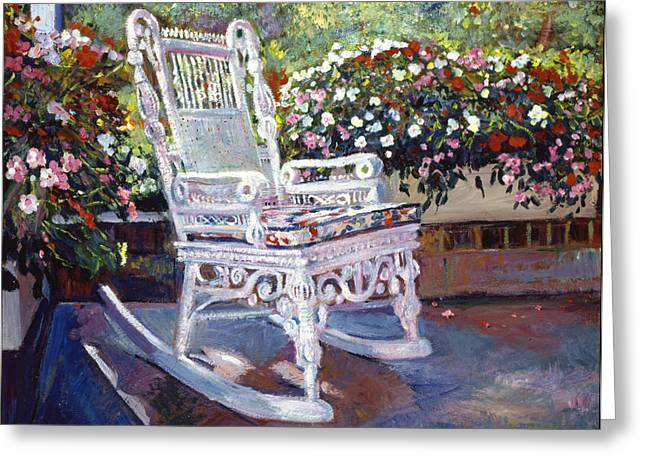 Veranda Greeting Cards - A Rest in the Shade Greeting Card by David Lloyd Glover