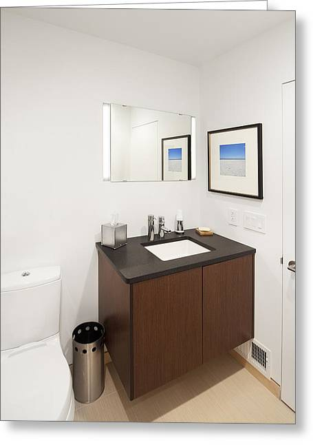 Art Product Greeting Cards - A Restroom Or Bathroom. Toilet Greeting Card by Christian Scully